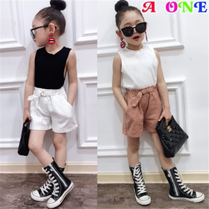 Summer girls clothes girls set kids baby suit casual fashion tee + shorts 2 pcs set kids suit baby clothes