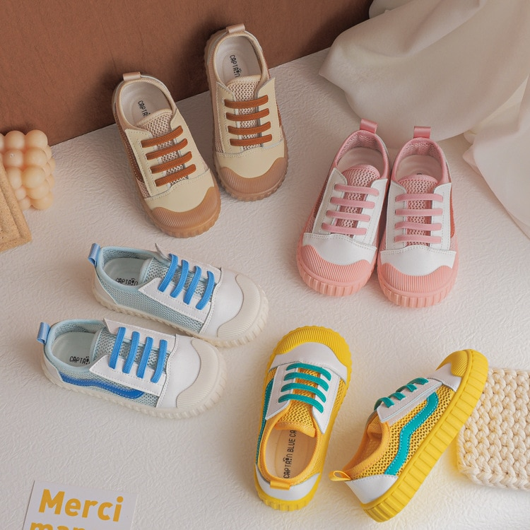 Kids Fashion Candy Color Children's Shoes 2021 Summer New Breathable Casual Net Shoes Boys and Girls