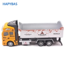 Véhicules dingénierie, camion à ordures de camion de pointe 148, voitures moulées sous pression, véhicules de jouet de traction, meilleur cadeau denfants