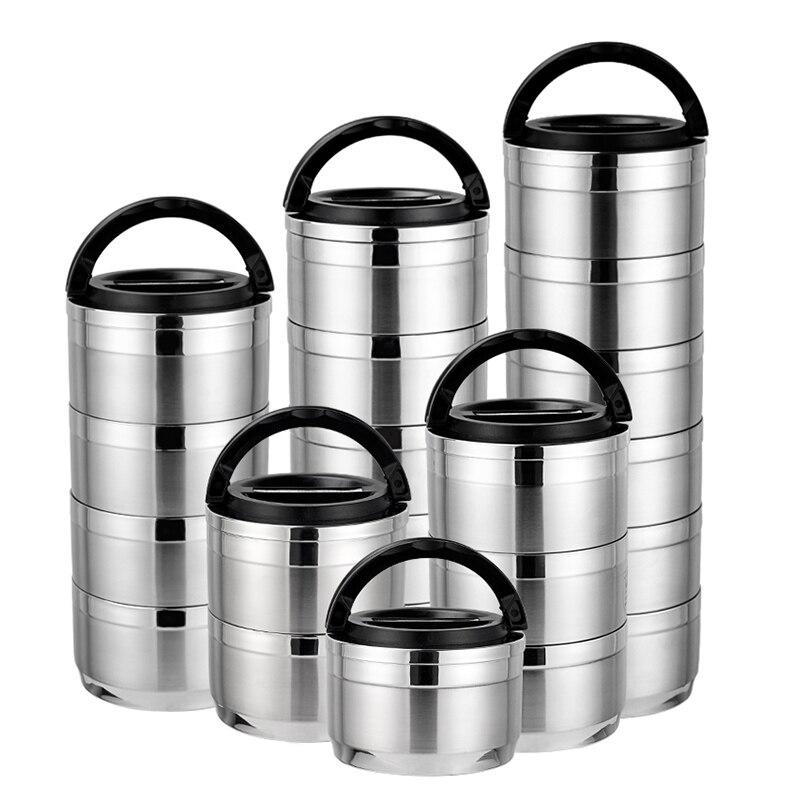 بينتو-صندوق نزهة كبير من الفولاذ المقاوم للصدأ ، حاوية طعام عازلة ، للمطبخ