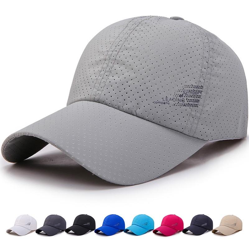 New Men Women  Summer Baseball Cap  Quick Drying  Hats Uni Breathable Sport  Pure Color Snapback Hat bone baseball hat