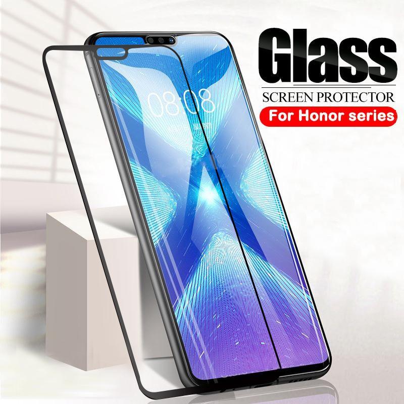 Funda completa de vidrio templado 9D para Huawei Honor 8X 8A 8C 9X 9A 9i 10i Protector de pantalla para Honor 9 10 20 Lite Funda de cristal
