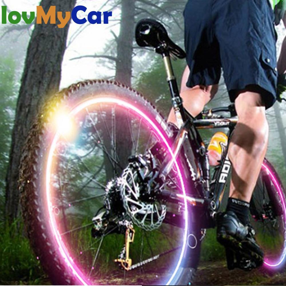2X Luz de coche bicicleta rueda llanta Led válvula Flash neón LED Auto tapas a prueba de polvo radios Válvula de coche vástagos tapas con lámparas Accesorios