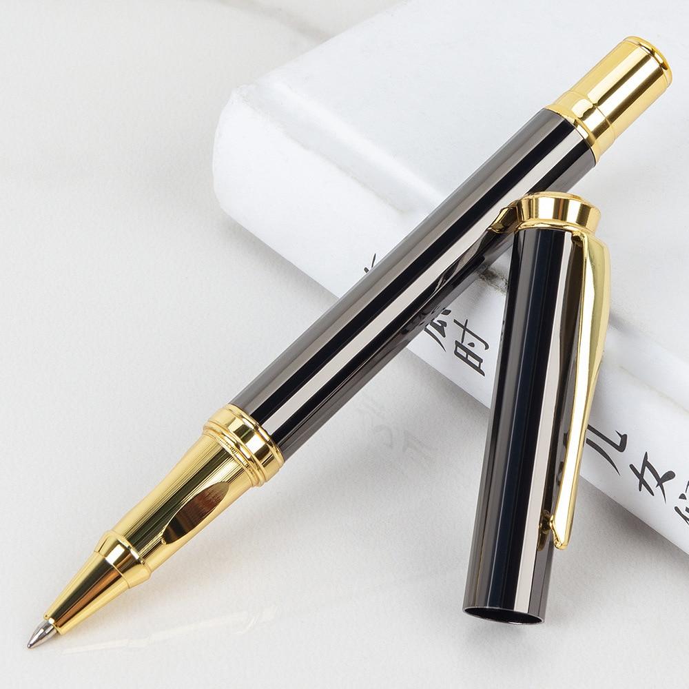 Роскошная серая металлическая Новая шариковая ручка 0,7 мм, женская школьная канцелярия, ручки для деловых подарков в отеле