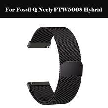 Milanese döngü kayışı saat kayışı 22mm 20mm 18mm paslanmaz çelik tel örgü fosil Q Neely FTW5008 hibrid