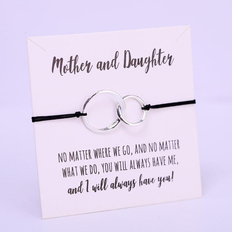 Bracelets mère et fille ajustables, bijou cœur, ajustable, pour Couple, amis, femmes et hommes, à la mode