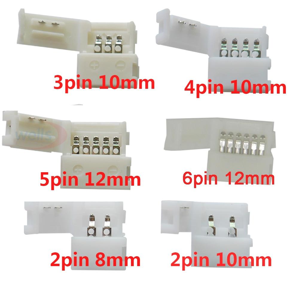 5 шт. светодиодный клип разъем 2pin 3pin 4pin 5pin 6pin для 5050 3528 3014 WS2812b светодиодный полосы светильник