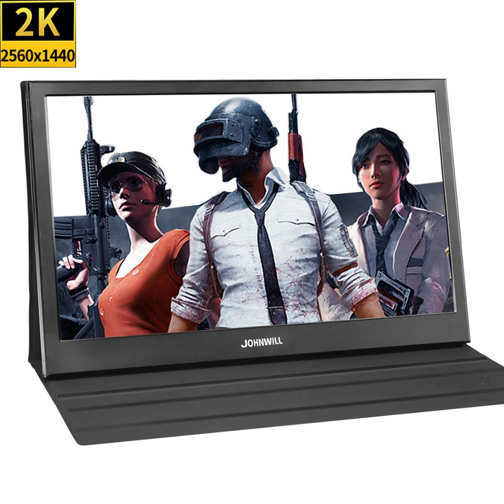 13.3 inch 2560x1440 Portable Monitor pc for PS4 Windows 7 8 10 Full HD LCD 2K HDMI IPS Screen gaming Monitor Ultra Thin Display 13 3 inch portable computer monitor pc 2k 2560x1440 hdmi ps3 ps4 xbo x360 ips lcd led display for raspberry pi wins 7 8 10 case