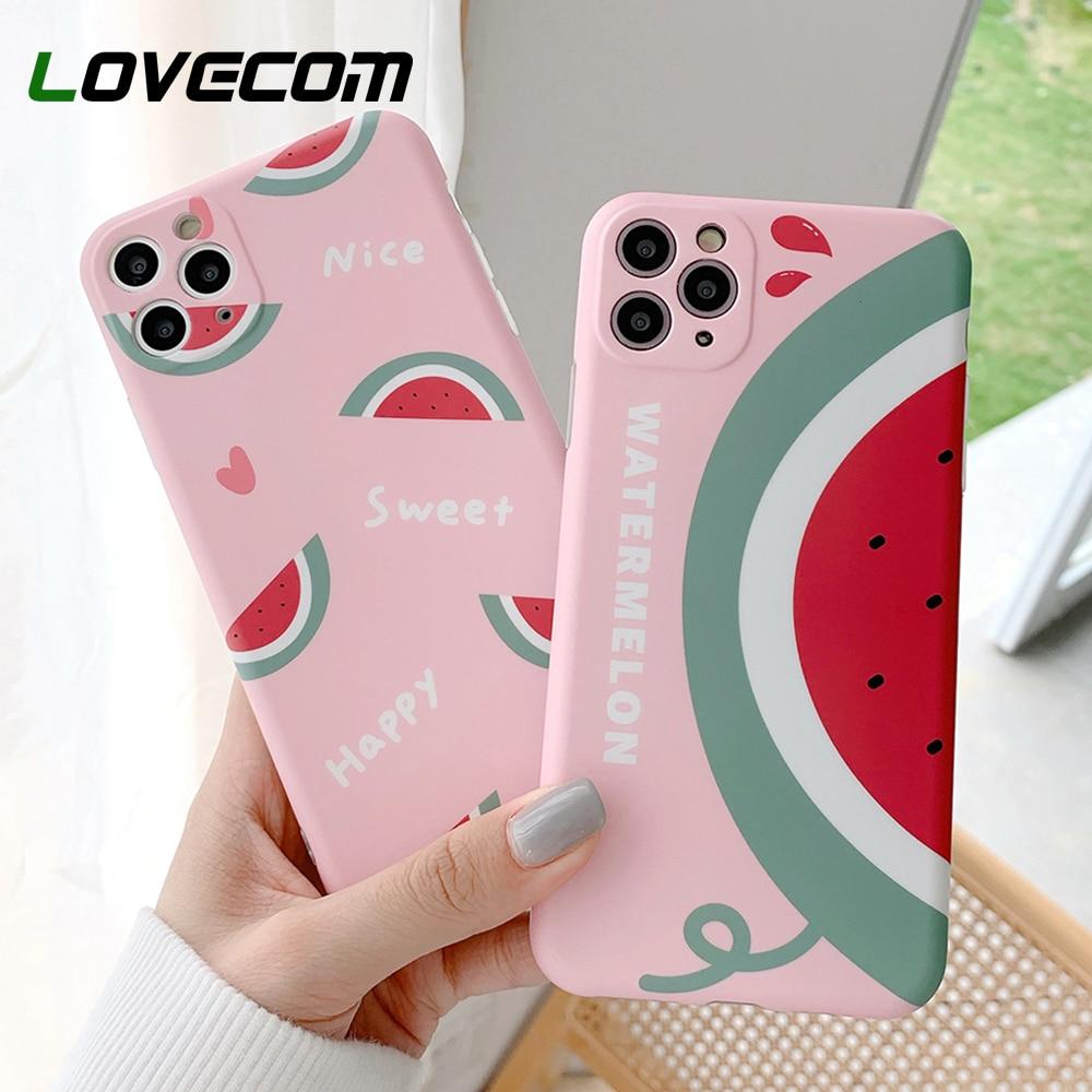LOVECOM frutas sandía teléfono caso para iPhone 11 Pro Max XR XS Max 7 8 Plus SE 2020 Cámara CASO DE PROTECCIÓN DE IMD cubierta del teléfono