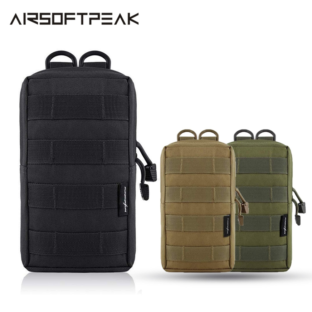 AIRSOFTPEAK táctico Molle bolsa chaleco bolsas accesorios herramienta cintura bolsa Nylon utilidad riñonera militar Paintball caza al aire libre bolsa tactica cartera tactica