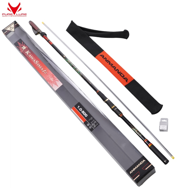 PURELURE Rocky pole long-throwing and drifting special pole carbon super-hard and ultra-light dual-use large guide ring