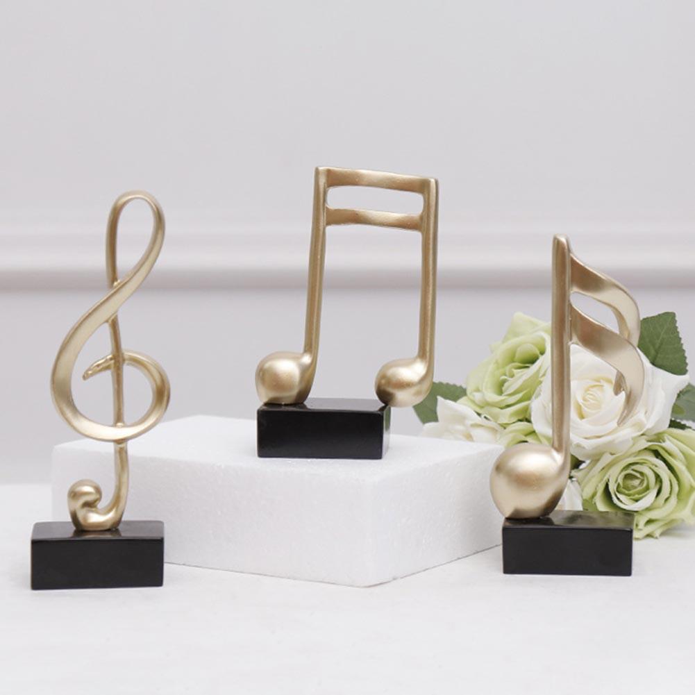 Mini figura de modelo de nota Musical, artesanía de resina, ornamento de...