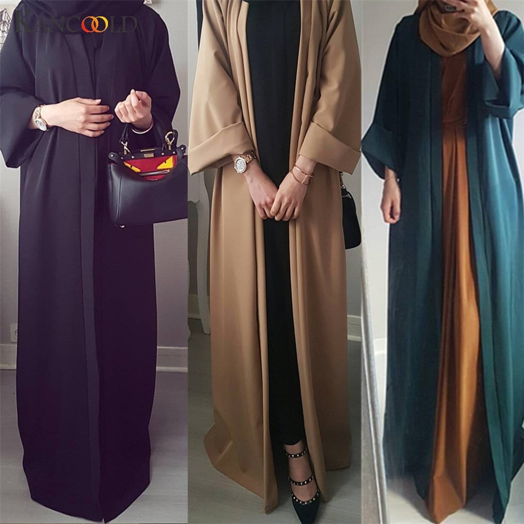 KANCOOLD 2019 Abaya Dubai vestido musulmán kimono kaftan Bangladesh túnica musulmana ropa islámica caftán turco UAE parte de regalo