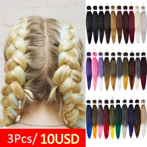 3Pcs/Lot 26 Inch Youngther Pre Stretched Braiding Hair Eazy Braid Hair Synthetic Youngther Braiding Hair Extensions