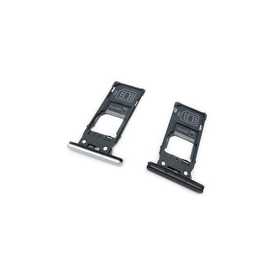 Adaptador de soporte de bandeja con ranura para tarjeta SIM doble único para Sony Xperia XZ2 H8216 H8266 H8276 H8296 lector de tarjetas de memoria MicroSD