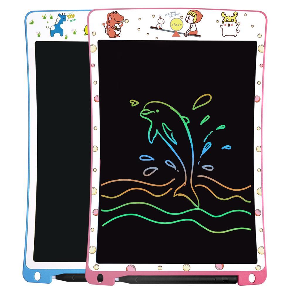 NEWYES 10 بوصة كمبيوتر لوحي LCD بشاشة للكتابة قابلة للشحن الرقمية الإلكترونية بخط اليد لوحة الرسم لوحات الرسم مع قلم للأطفال