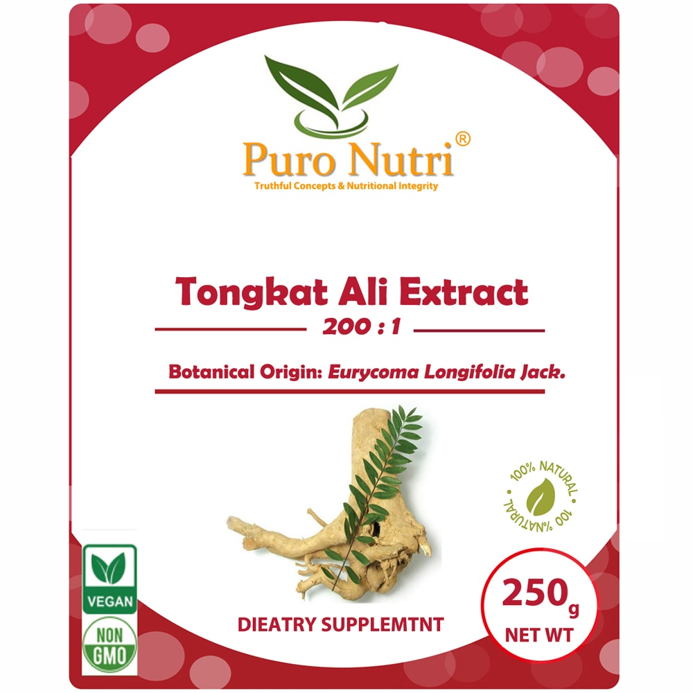 Hohe Reine Natur Tongkat Ali Extrakt 2001 Longjack Eurycoma longifolia pulver Ergänzung Für Ausdauer, Festigkeit & Energie