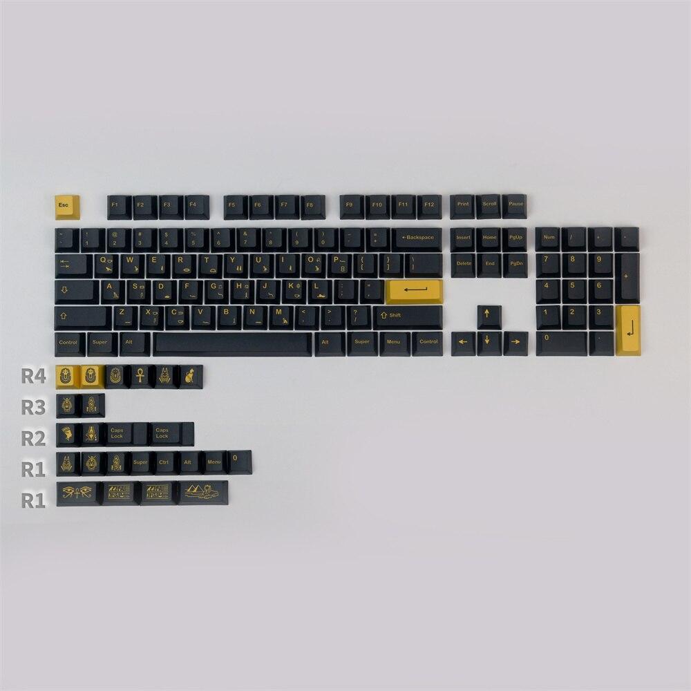 1 Set GMK فرعون أغطية مفاتيح PBT صبغ التسامي الكرز الشخصي قبعات المفاتيح مع 1.5U 1.75U 2U الملحق ل 61 64 68 84 لوحة المفاتيح