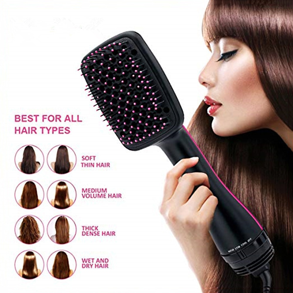 3 in 1 Negative Ion One Step Hair Dryer & Volumizer Blower Anti-Static Hair Styler Hair Straightener Brush Drier Hairbrush enlarge