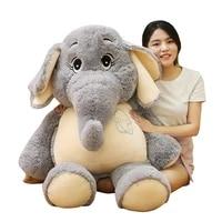 lovely 385868cm gentle elephant plush toys staffed cartoon animal doll kids baby children love toy appease doll christmas gift