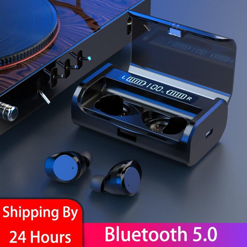 G06 pantalla LED inalámbrica Bluetooth 5,0 auriculares TWS 3D estéreo con cancelación de ruido táctil para realme x2 pro Q x x2