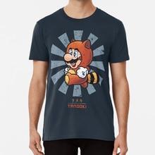 Super Mario Tanooki Retro Japanese T shirt super mario brothers bros luigi yoshi peach toad bowser goomba