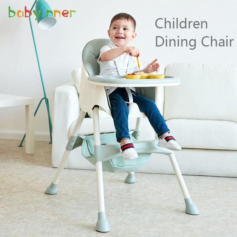 Детское обеденное кресло из полипропилена, детское регулируемое портативное сиденье, многофункциональные детские столы и стулья для еды
