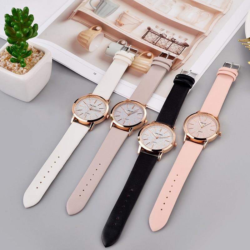 Geneva Top Luxury Brand Fashion Simple Womens Watches Ladies Watch Faux Leather Analog Quartz Wrist Watch Clock relogio feminino