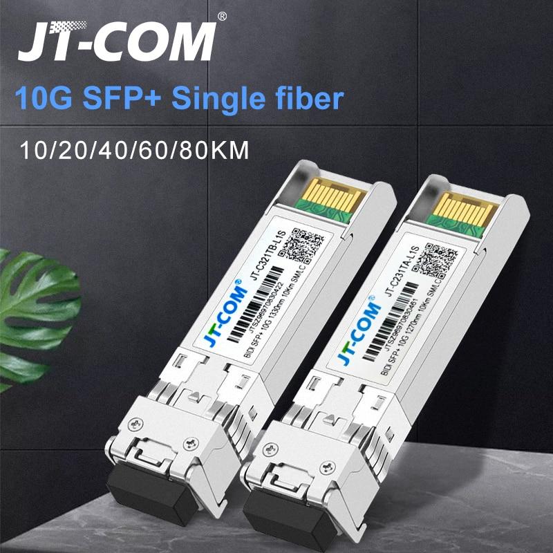 10G BIDI 10/20/40/60/80KM SFP Module SM LC 1270/1330nm Single Mode Single Fiber Optic module Compatible with Cisco Switch