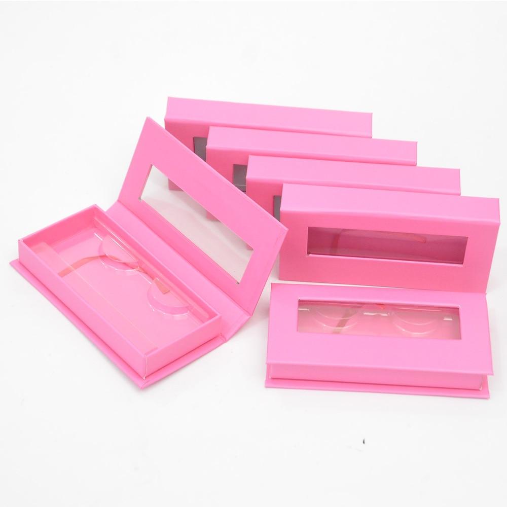 Caixa de Embalagem de Cílios Caixas de Chicote Case de Etiqueta Pacote Logotipo Personalizado Magnético Rosa Vermelha 25mm Cílios Postiços Maquiagem Privada Fornecedor
