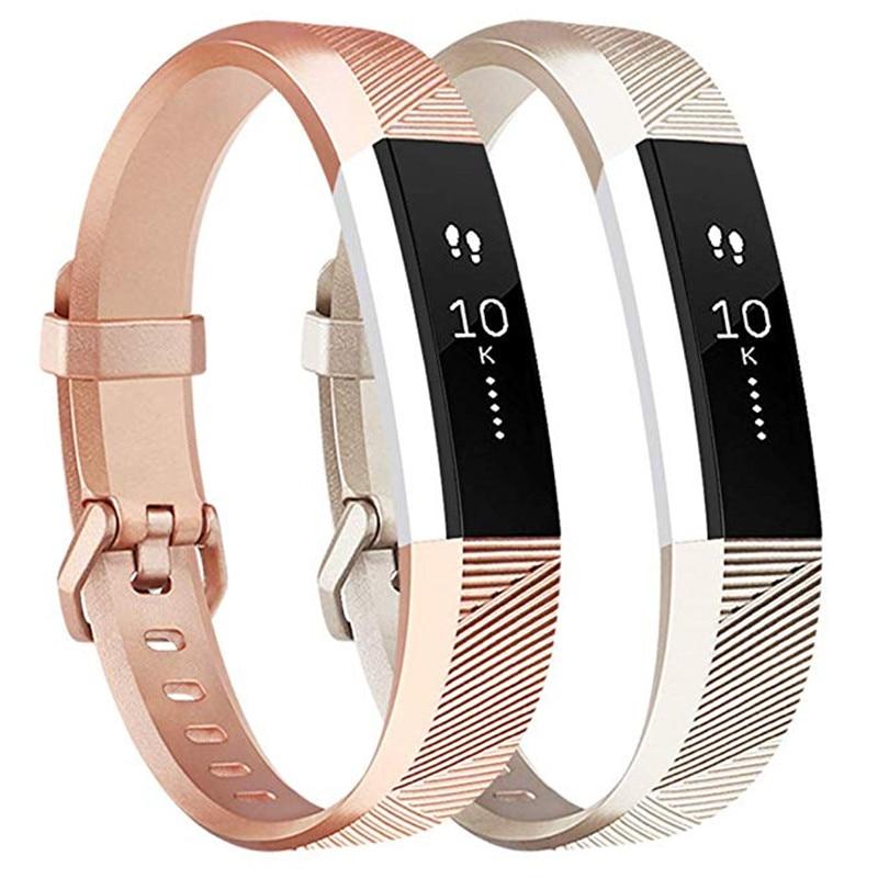 Rose Gold Band Para Fitbit Alta HR/Fitbit Alta Relógio Inteligente Relógio de Pulso Cinta Para Ajuste bit Alta FC Pequeno grande Pulseira