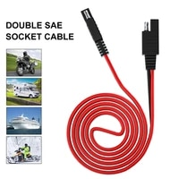 sae to sae extension cord 100 cm cable quick disconnect battery charging harness for car solar panel accessory accessories