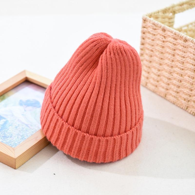 2019 Chapéu de outono e inverno nova lã das mulheres do sexo feminino chapéu de malha selvagem retro maré chapéu melão de inverno quente tampas de chapelaria skullies & Gorros