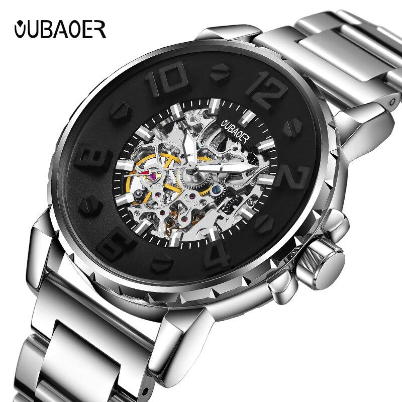 Marca oubaoer, relojes para hombre, reloj mecánico automático, reloj deportivo informal de negocios, reloj de pulsera resistente al agua, relojes para hombre