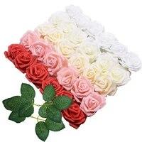 Panier de roses en mousse PE 8cm 10 20 30 pieces  tetes de fleurs decoratives pour maison  bouquet de fleurs artificielles DIY pour mariee  scrapbooking
