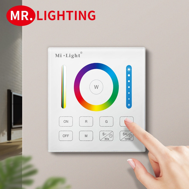 B0 RGB CCT LED light bar controller 2.4G wireless WIFI smart remote control wall-mounted touch screen control panel dimmer