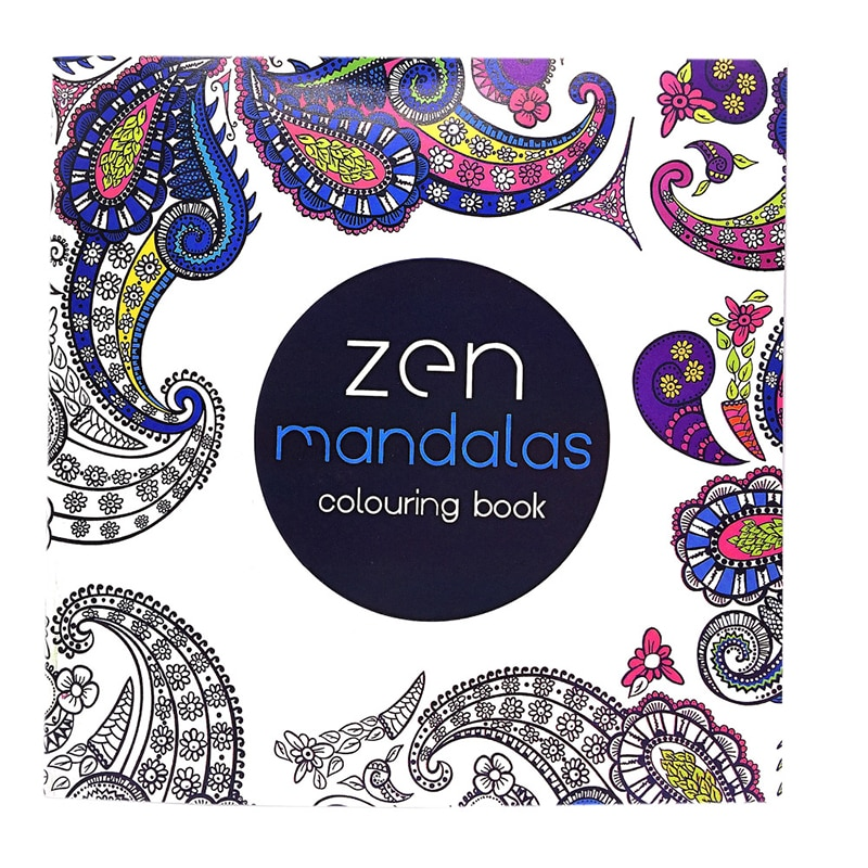 1 Pcs New 24 Pages Mandalas Flower Coloring Book For Children Adult Relieve Stress Kill Time Graffiti Painting Drawing Art Book