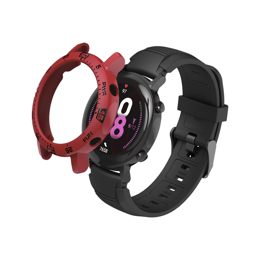 Alguna SIKAI suave TPU caja de reloj para el Huawei Watch GT2 42mm cubierta protectora completa para Huawei reloj inteligente bisel