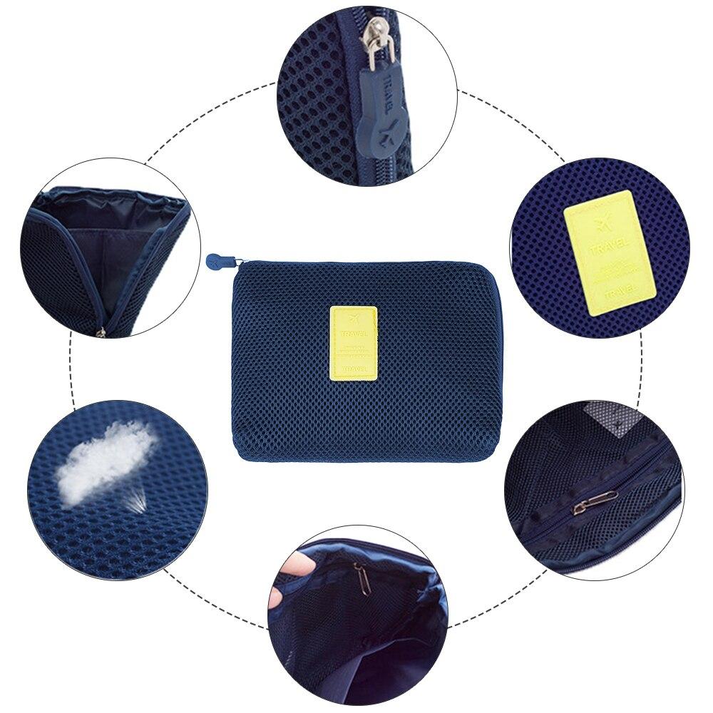 Shock-proof Travel Storage Bag For Digital Data Cable Charger Headphone Portable Mesh Sponge Bag  Holder Cosmetic Bag
