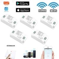 Tuya WiFi Switch Remote Control WIFI 433 Smart Switch Module Work With Alexa Google Home Smart Home Household Switch Modules