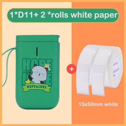 NIIMBOT-طابعة ملصقات حرارية محمولة D11 ، حجم الجيب ، اتصال لاسلكي BT مع تطبيق