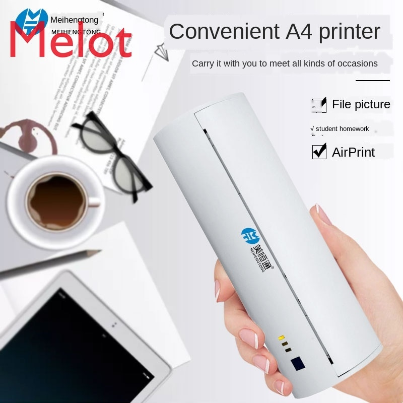 Thermal A4 Wrong Question Printer Bluetooth Portable Student Household Household Wireless Mini Mobile Office Paper Sorting enlarge