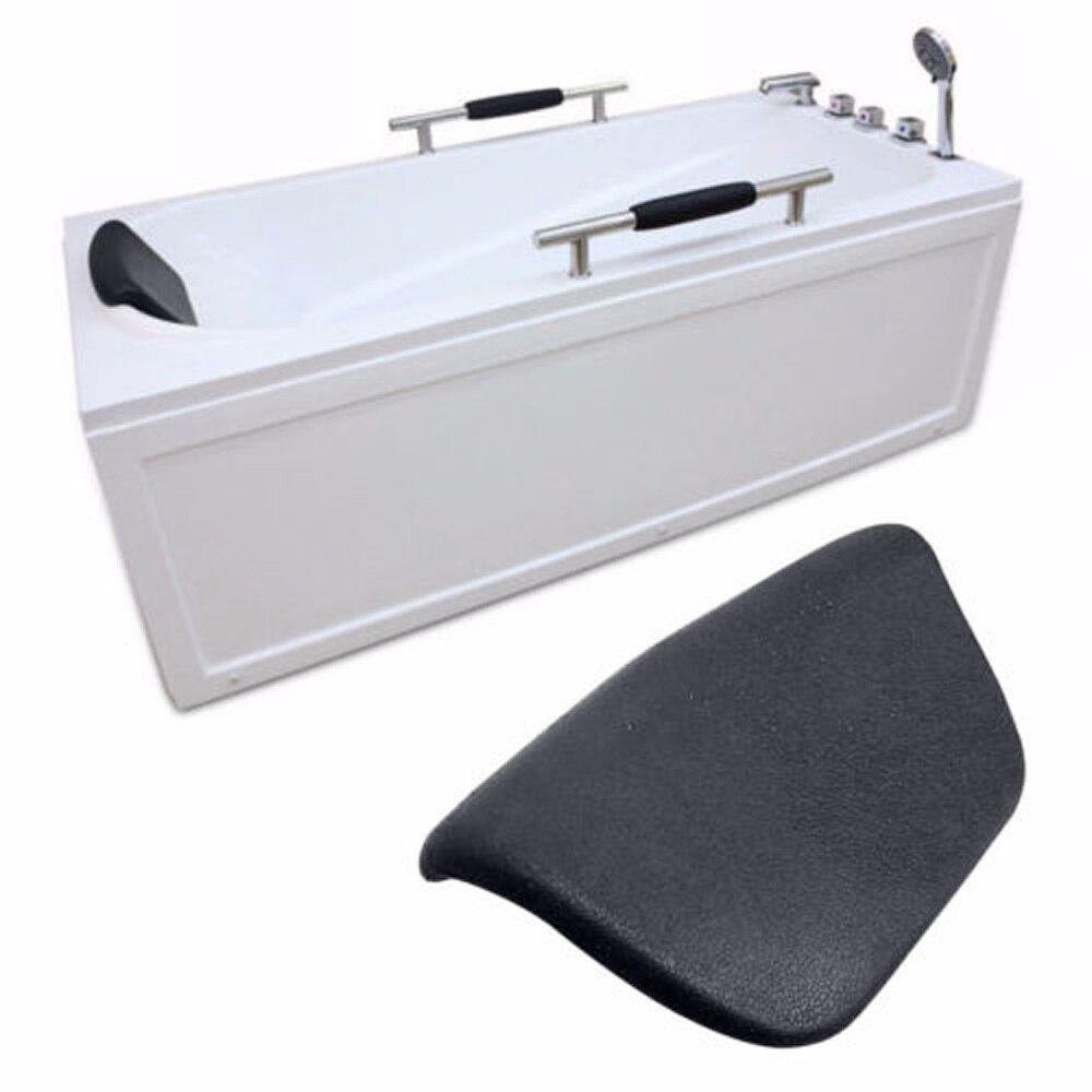 Подушка для ванны спа ПУ подголовник для ванны, водонепроницаемая подушка для ванны 265*150*60 мм, черная подушка для ванны для поддержки головы ...