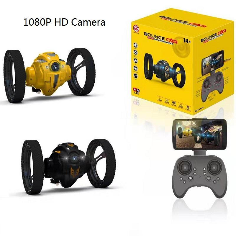 RC Car Flexible Wheels Rotation LED Night Light RC Cars Bounce Robot 2.4G Jumping Car No Camera or with WIFI Camera 2.0mp 1:10