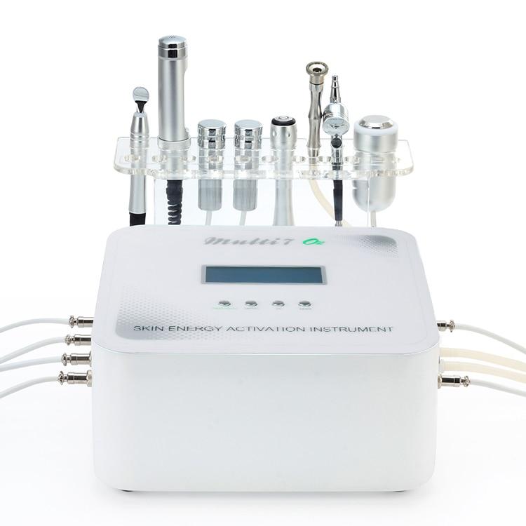 جهاز الميزوثيرابي الكهربائي متعدد الوظائف 7 في 1 ، آلة Electroporation لإزالة الجلد ثنائي القطب RF لعلاج حب الشباب