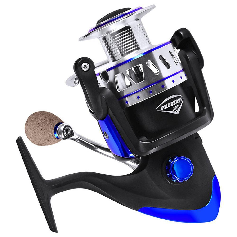 HiMISS rueda de pesca giratoria de Metal 13 + 1 eje PRO BEROS carrete de pesca tambor carrete de pesca