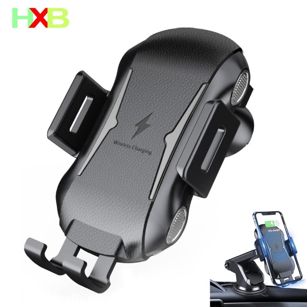 XHB Qi coche inalámbrico cargador titular del teléfono del coche cargador inalámbrico para iPhone 11 Pro max X XS X XR 8 Samsung S10 S9 S8 Nota 9 Xiaomi mi