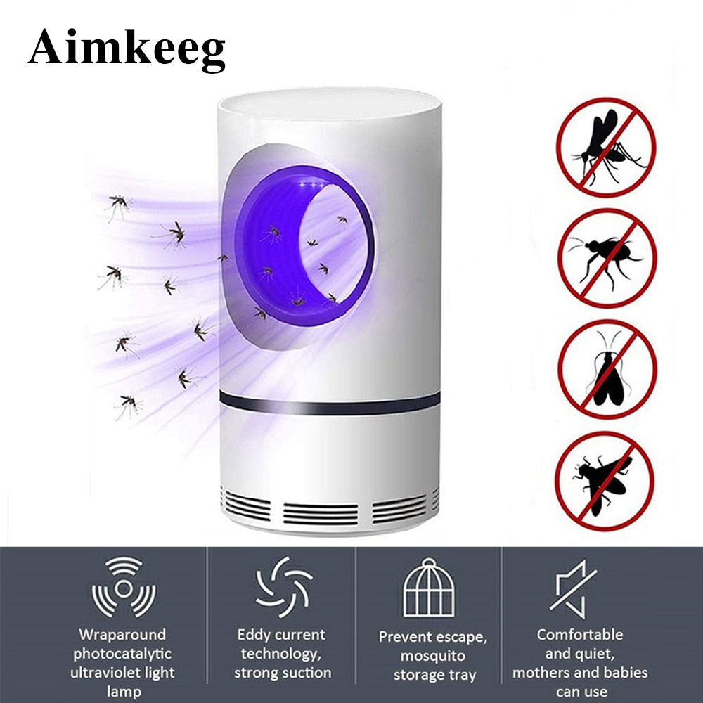 Ultraviolet Mosquito Killer Lamp USB Night Light LED Insect Trap Radiationless mosquito repellent room living room bedroom study