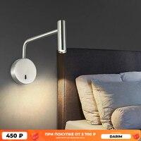 ZEROUNO наружные настенные лампы поворота дома в современном стиле переключатель света для спальни светодиодный 3 Вт светодиодные лампы для чт...
