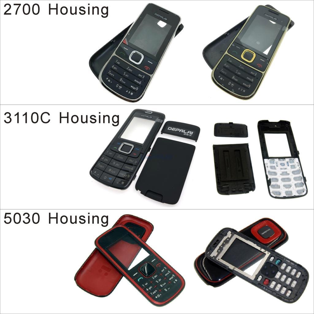 Para Nokia 2700 3110C 5030 carcasa frontal marco cubierta + cubierta trasera/tapa de la batería + teclado